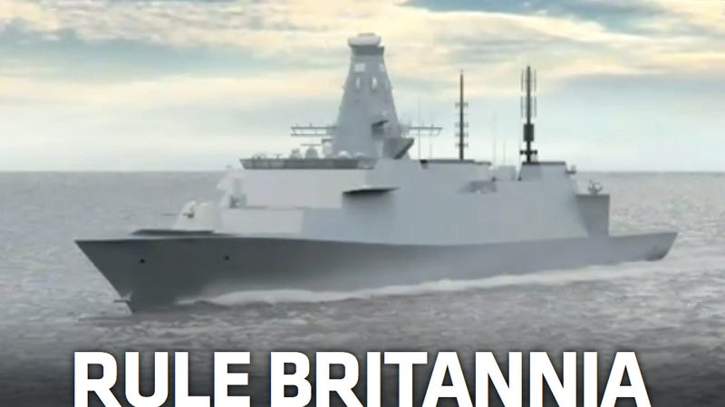 Illustration for article titled This Is Britain's Super Stealthy New Warship