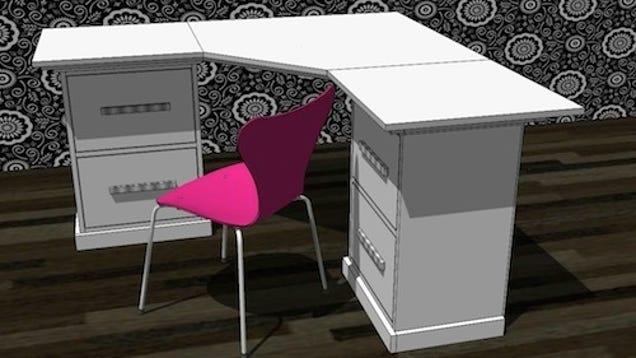 build an 800 corner desk for less than 50. Black Bedroom Furniture Sets. Home Design Ideas