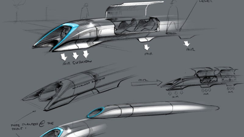 Illustration for article titled Elon Musk's Hyperloop Alpha: A Quick And Dirty Explainer