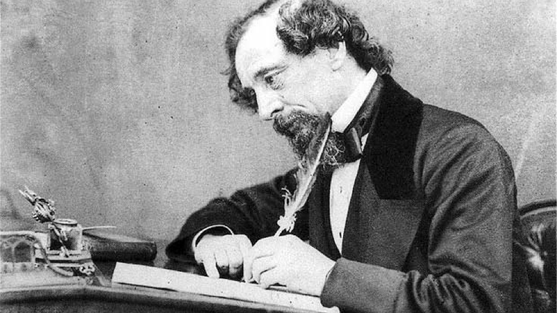 Charles Dickens, first-drafter
