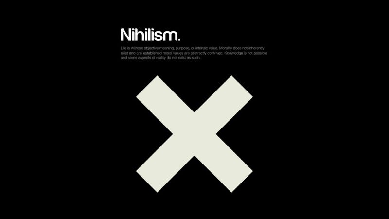 Minimalist posters explain complex philosophical concepts for Define minimalist design