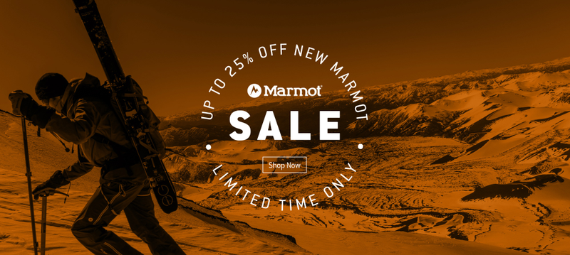 25% off select new styles from Marmot