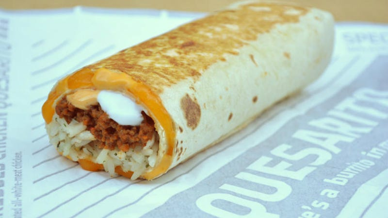 Illustration for article titled Taco Bell Unveils a Burrito Wrapped in a Quesadilla