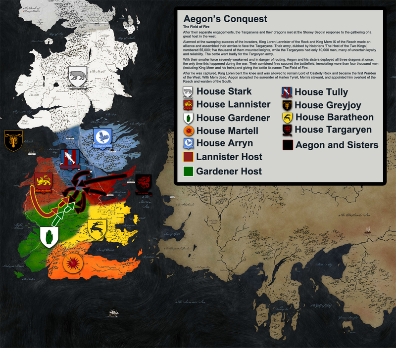 Illustration for article titled The Entire History Of Westeros Told Through More Than A Dozen Maps
