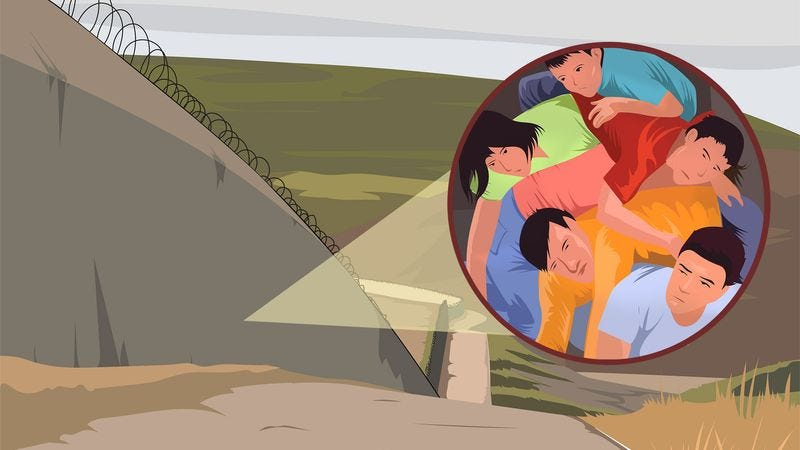 Illustration for article titled Census Study Finds Thousands Of Undocumented Immigrants Living Inside U.S. Border Wall