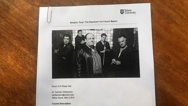 Illustration for article titled How Many Of These University-Level Courses About 'The Sopranos' Have You Taught?