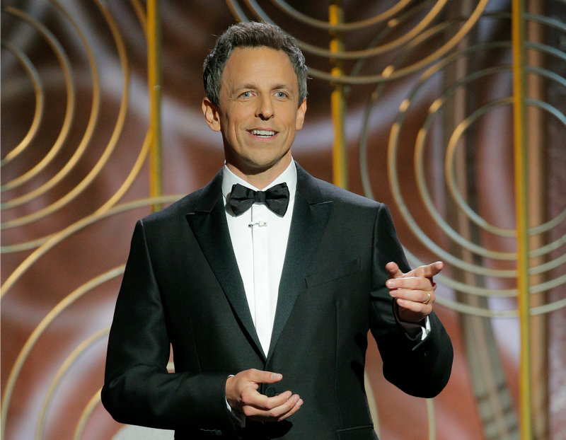 Seth Meyers hosts the 75th Golden Globes (Photo: Paul Drinkwater/NBCUniversal via Getty Images)