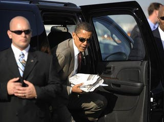 Illustration for article titled Obama To Get New, Giant Truck-Based Cadillac Presidential Limo