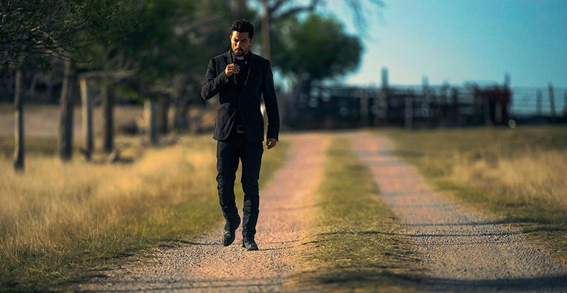 Dominic Cooper as Jesse Custer in AMC's Preacher. Image: Lewis Jacobs/Sony Pictures Television/AMC