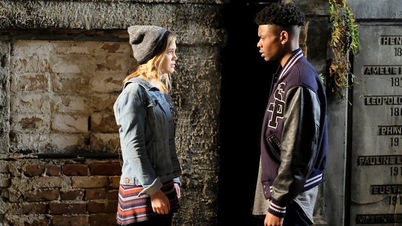 Olivia Holt and Aubrey Joseph in Cloak & Dagger