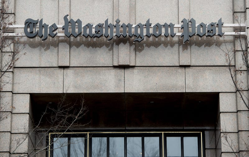 The headquarters for the Washington Post newspaper Dec. 24, 2015, in Washington, D.C. SAUL LOEB/AFP/Getty Images