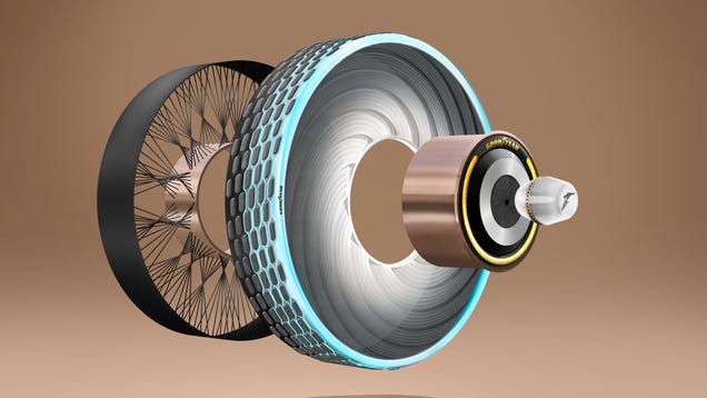 Goodyear s Latest Concept Is A Tire That Can Be Changed Using A Pill