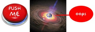 Illustration for article titled Large Hadron Collider Has Black Hole Button