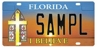 Illustration for article titled NYT: Christian License Plate Banned By District Court