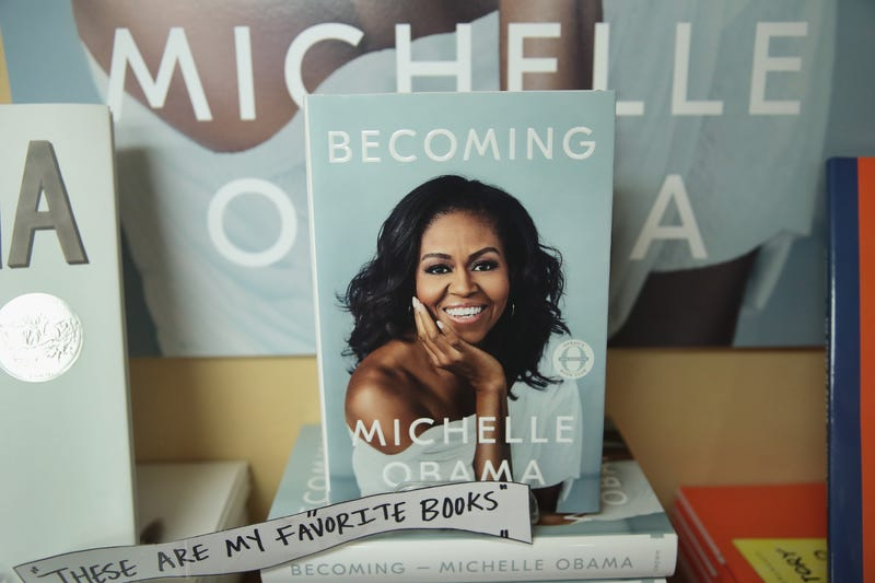 Becoming, by former first lady Michelle Obama, is displayed at the 57th Street Books bookstore on November 13, 2018 in Chicago, Illinois.
