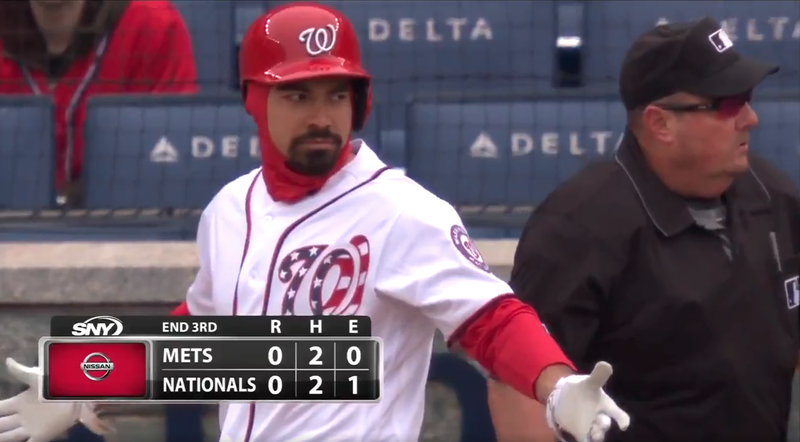 Illustration for article titled Angry Baby Umpire Ejects Anthony Rendon For Absolutely Nothing