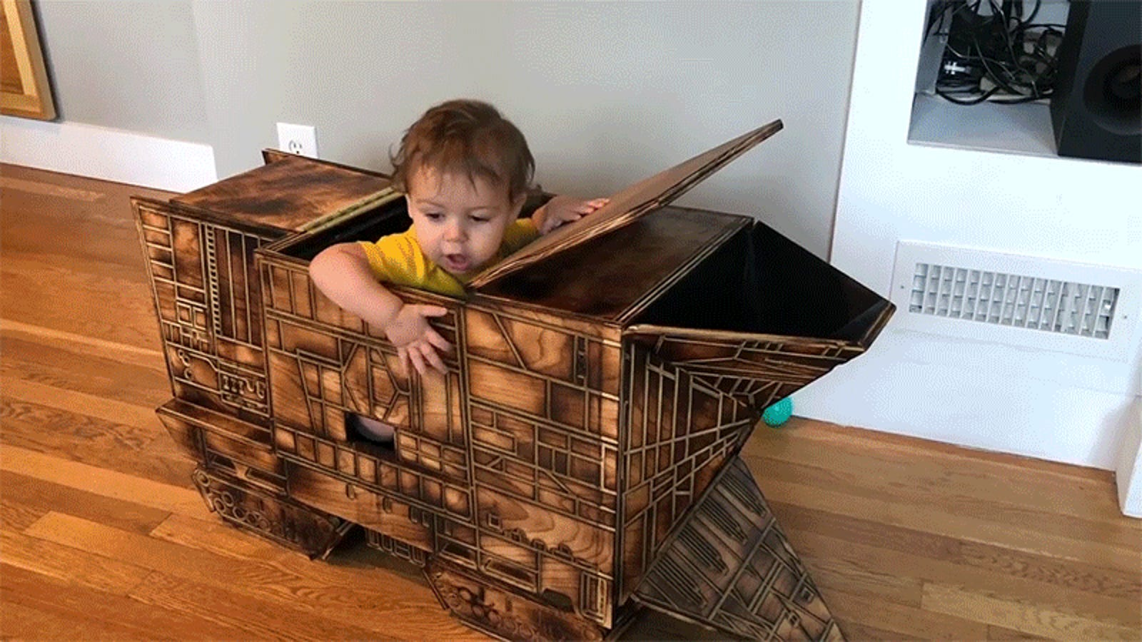 It's OK To Be Jealous of This Toddler's MagnificentStar Wars Sandcrawler Toy Box