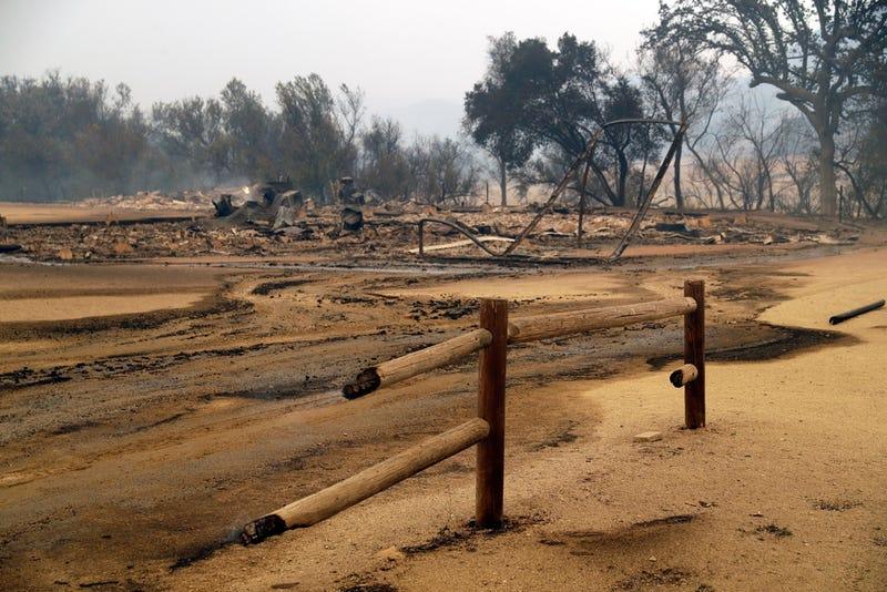 Lo que quedó de Paramount Ranch después de los incendios forestales en California el 9 de noviembre de 2018.