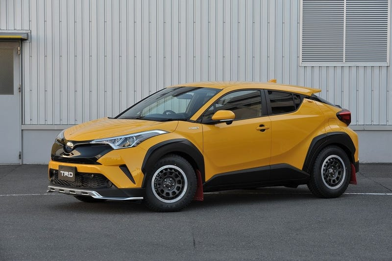 Illustration for article titled This Rally-Style Toyota C-HR Is The Only Cool Hybrid Crossover