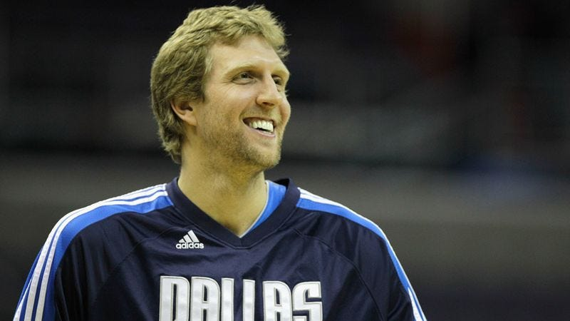 Illustration for article titled Dirk Nowitzki Recommends Playing In NBA Games To Friends Taking Road Trip