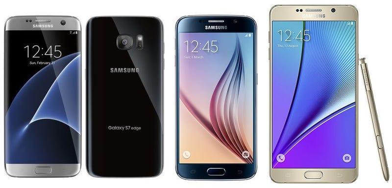 Illustration for article titled Comparativa del nuevo Samsung Galaxy S7 vs Galaxy S6 vs Galaxy Note 5, ¿qué cambia?
