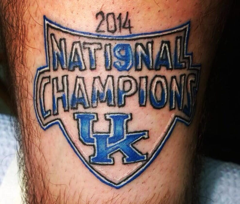 "Illustration for article titled UK Fan With ""National Champions"" Tattoo Taking It As You'd Expect"