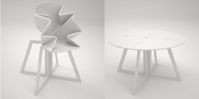 Illustration for article titled This Folding Table Is Inspired By a Pop-Up Map of New York City