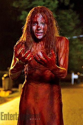Illustration for article titled First images from the new Carrie show off the big bloody money shot