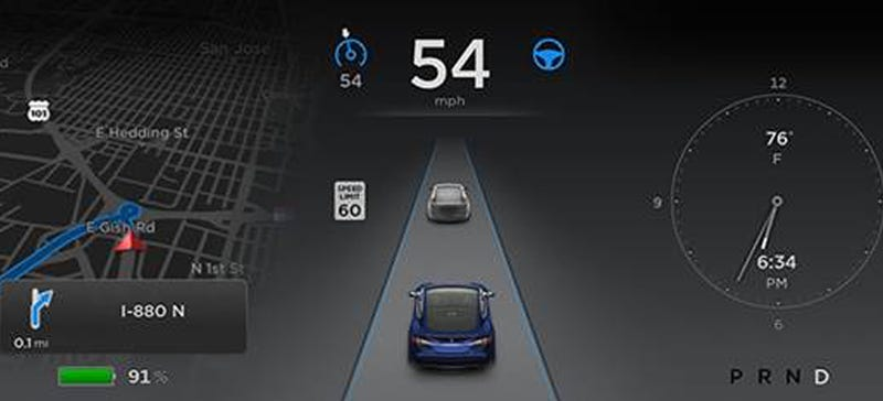 Illustration for article titled Tesla's New Autopilot Will Steer, Park And Map The Road You're Driving On