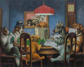Illustration for article titled Dogs Playing Poker Just Got Owned By Dogs Playing Dungeons & Dragons