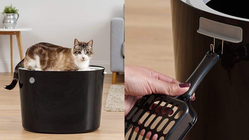 IRIS Top Entry Cat Litter Box + Scoop   $19   Amazon