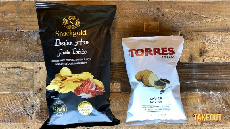 Illustration for article titled Spanish potato chips reach peak Spain with caviar and Iberico ham flavors