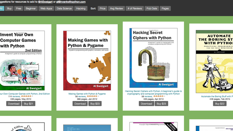 Illustration for article titled Invent With Python Is  a Treasure Trove of Ebooks for Aspiring Coders