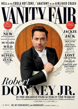 Illustration for article titled Dashing Robert Downey Jr. Talks Drugs and Dysfunction in Vanity Fair