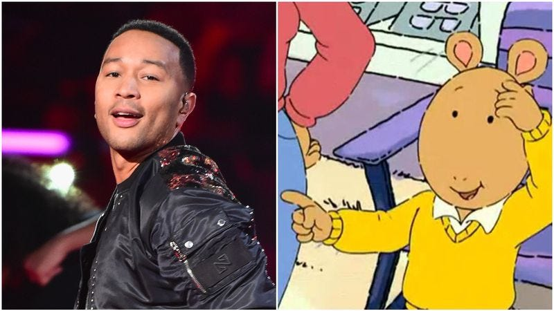 John Legend (Photo: Photo by Theo Wargo/Getty Images), Arthur image via screencap