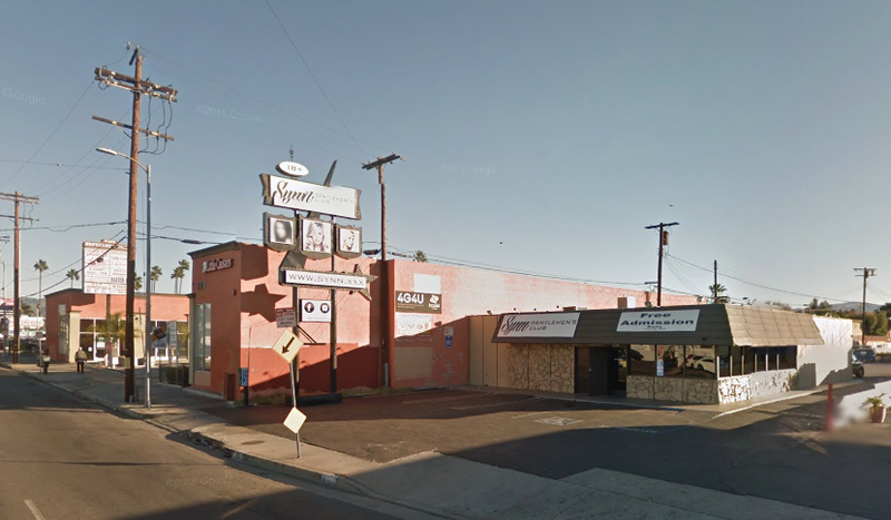 Synn Gentleman's Club as seen from Google Maps Street View