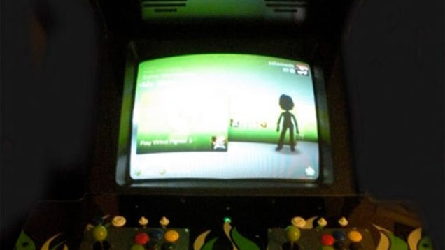 the xbox 360 meets arcade cabinet