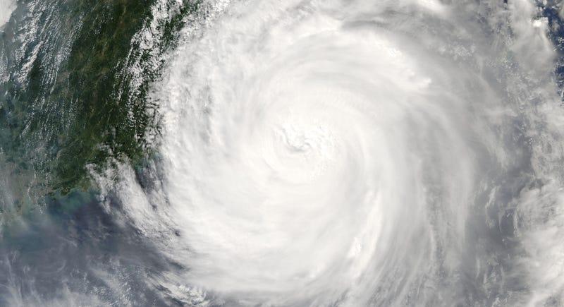 Typhoon Megi making landfall on Taiwan in 2010. Image: NASA Earth Observatory