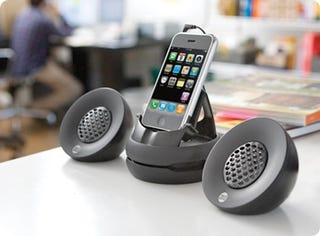 Illustration for article titled DLO's Portable Fold-up iPhone Speakers Are Necessary