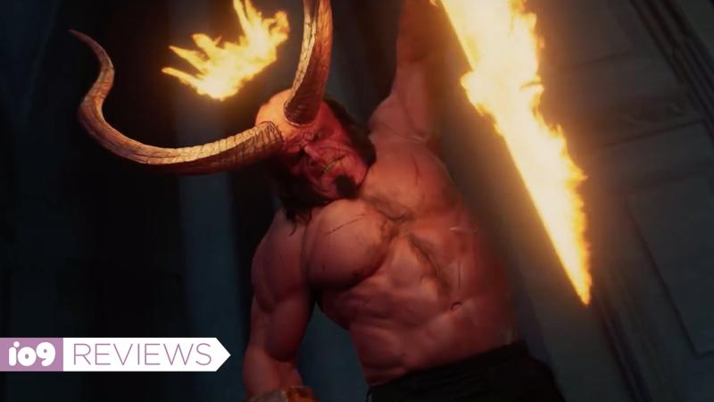 Hellboy wielding Excalibur.