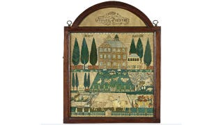 Illustration for article titled 19th Century Schoolgirl's Embroidery Sells for Over $1 Million