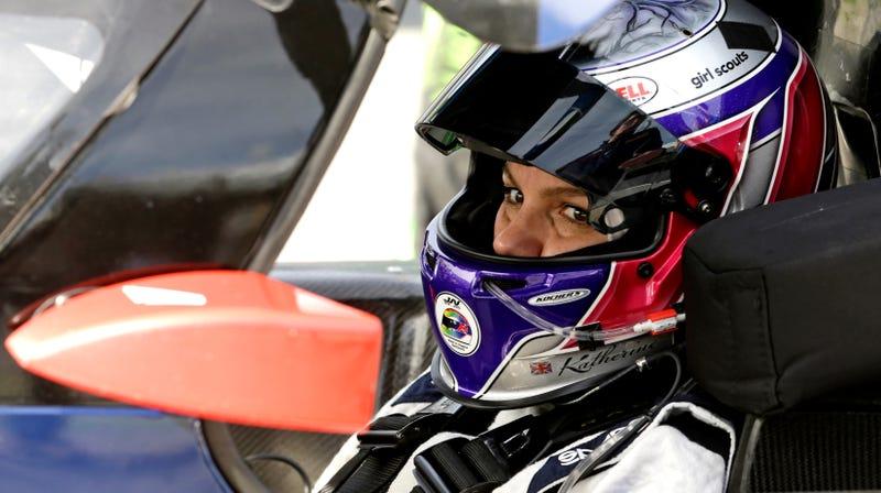 Katherine Legge at the 24 Hours of Daytona in 2016.