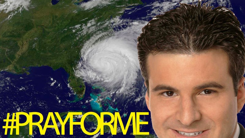 Illustration for article titled Pray For Darren Rovell And His Hair To Survive Hurricane Irene