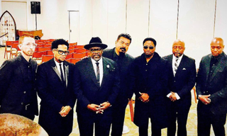 Neal Brennan, D.L. Hughley, Cedric the Entertainer, George Lopez, Eddie Griffin, Donnell Rawlings and Dave Chappelle (George Lopez via Instagram)