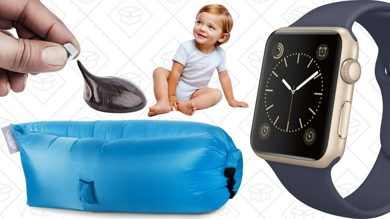 Illustration for article titled Today's Best Deals: Inflatable Lounger, Apple Watch, 30% off Baby Gear, and More