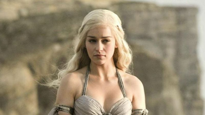 Emilia Clarke on Game Of Thrones