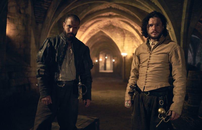 Tom Cullen and Kit Harington are conspirators in Gunpowder (Photo: Robert Viglasky/HBO)