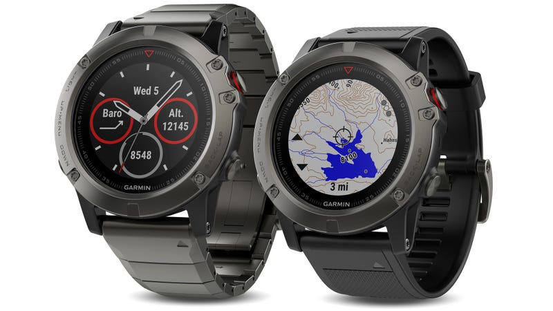 Illustration for article titled Garmin's Fēnix 5 Squeezes Satellite Navigation Into a Slim Fitness-Tracking Smartwatch
