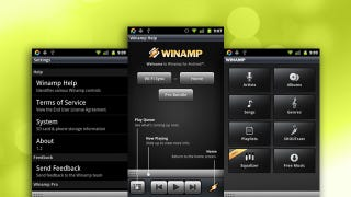 Illustration for article titled Winamp for Android Updates, Now Syncs with Macs Wirelessly