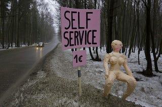 Illustration for article titled Roadside Blow Up Dolls Offer A Different Kind Of Self-Service